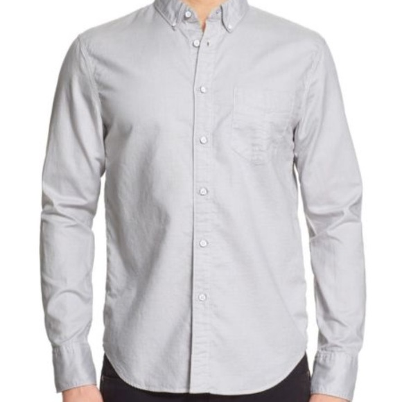 rag & bone Other - Rag & Bone Mens Grey Micro Check Yokohama Shirt